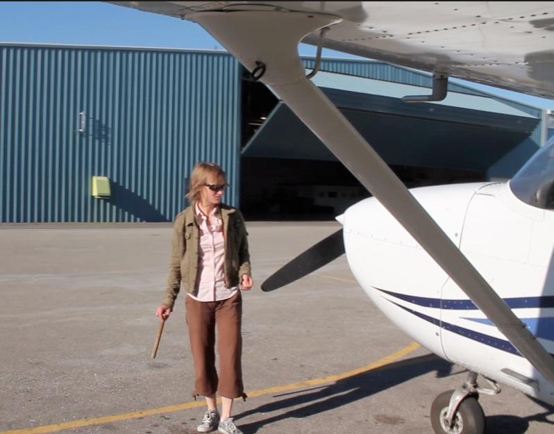 Pre flight check on a Cesna 172